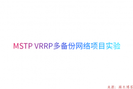 MSTP VRRP多备份网络项目实验