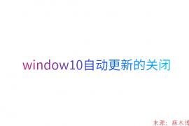 window10自动更新的关闭
