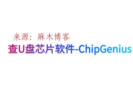 windows查U盘芯片软件-ChipGenius